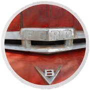 Ford V8 Emblem Round Beach Towel