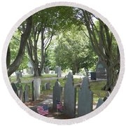 Forefathers' Cemetery Round Beach Towel
