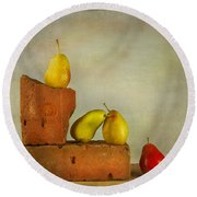 Forelle Pears Round Beach Towel