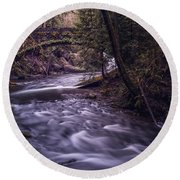 Forrest Bridge Round Beach Towel