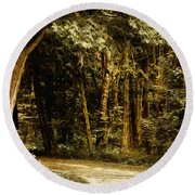 Forest Curve Round Beach Towel