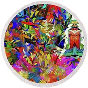 Forest Deity Round Beach Towel