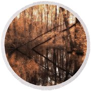 Forest Directional Round Beach Towel