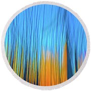 Round Beach Towel featuring the photograph Forest Fire by Tony Beck