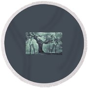 Forest Harmony Round Beach Towel