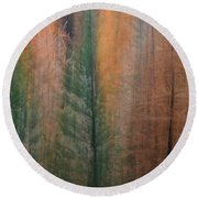 Forest Illusion- Autumn Born Round Beach Towel