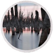 Forest In The Water Round Beach Towel