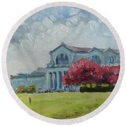 Forest Park Sunny Morning St.louis Round Beach Towel