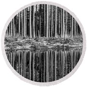 Forest Reflections Round Beach Towel
