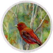 Forest Serenity Round Beach Towel