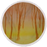 Forest Study Round Beach Towel