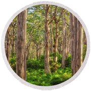 Forest Twilight, Boranup Forest Round Beach Towel