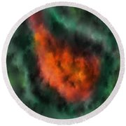 Forest Under Fire Round Beach Towel