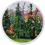 Forest Wall Round Beach Towel