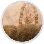 Paris, France - Forest Wheel Round Beach Towel