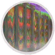 Round Beach Towel featuring the digital art Forests Of The Night by Wendy J St Christopher