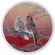 Forever Finch Round Beach Towel