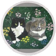 Forever Friends Round Beach Towel