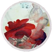 Round Beach Towel featuring the painting Forever by Jasna Dragun
