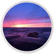 Forever  Round Beach Towel by Paula Brown