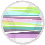 Forever Spring Abstract Art Round Beach Towel by Ann Powell