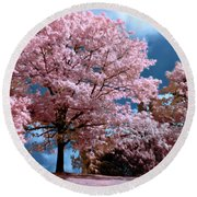 Round Beach Towel featuring the photograph Forever Spring by Helga Novelli
