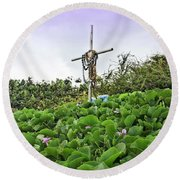 Round Beach Towel featuring the photograph Forget Me Not by DJ Florek