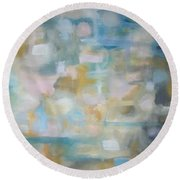 Round Beach Towel featuring the painting Forgetting The Past by Raymond Doward