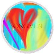 Forgiven Round Beach Towel
