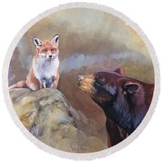 Forgotten Bear Tales Round Beach Towel