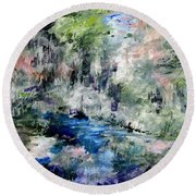 Forgotten Creek  Round Beach Towel