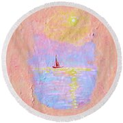 Forgotten Joy Round Beach Towel by Donna Blackhall