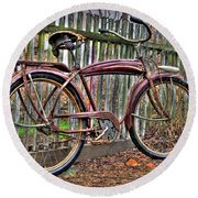 Round Beach Towel featuring the photograph Forgotten Ride 1 by Jim and Emily Bush