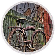 Round Beach Towel featuring the photograph Forgotten Ride 2 by Jim and Emily Bush