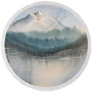 Fork In The River Round Beach Towel