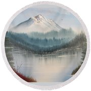 Fork In The River Round Beach Towel by Thomas Janos