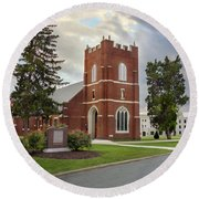 Fork Union Military Academy Wicker Chapel Sized For Blanket Round Beach Towel