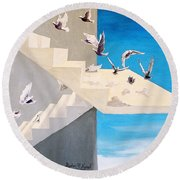 Form Without Function Round Beach Towel
