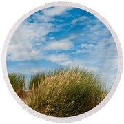 Formby Sand Dunes And Sky Round Beach Towel