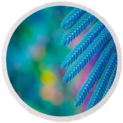 Formosa Leaf Abstract  Round Beach Towel