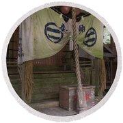 Forrest Shrine, Japan 4 Round Beach Towel