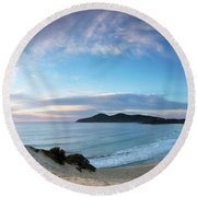 Forster One Mile Beach Round Beach Towel
