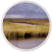 Forsythe By The Sea Round Beach Towel