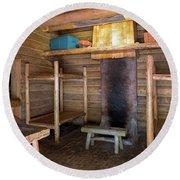 Fort Clatsop Living Quarters Round Beach Towel