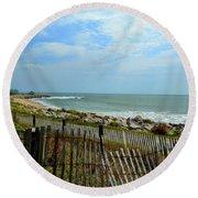 Fort Fisher Beach Round Beach Towel