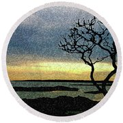 Fort Foster Tree Round Beach Towel