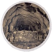 Fort George Tunnel, 1904 Round Beach Towel