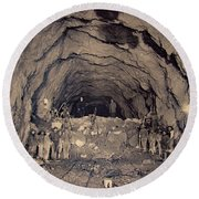 Fort George Tunnel, 1904 Round Beach Towel