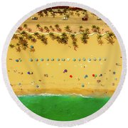 Fort Lauderdale Florida Round Beach Towel by Lance Asper