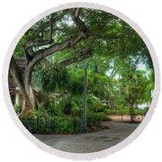 Fort Lauderdale Riverwalk Scenic Round Beach Towel